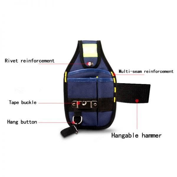 Waterproof Tool Pouch With Pockets Wide Tool Belt Holder