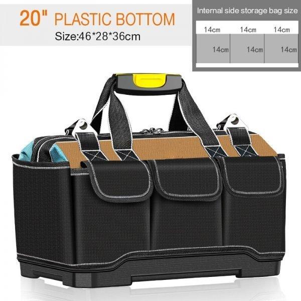 TAITU Tool Bag Thickened Wear-Resistant Shoulder Oxford Bag Large Tool Bag Multifunctional Electrician Repair Carpentry Handbag