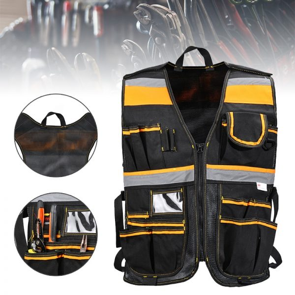 Carpenter Pouch Electrician Carpenter Bags Tool Vest Framer Plumber Construction Adjustable Pouch Durable And Convenince