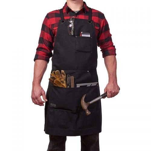 Multifunction Garden Tools Pouch Carpenter Worker Apron with Tool Pockets 83 x 64cm TB Sale