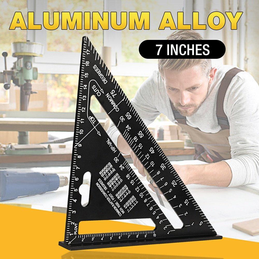 Triangle Ruler 7 inch Aluminum Alloy Speed Metric Square