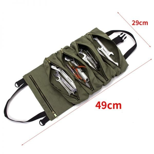 Hot Sale Roll Tool Roll Multi-Purpose Tool Roll Up Bag Wrench Roll Pouch Hanging Tool Zipper Carrier Tote