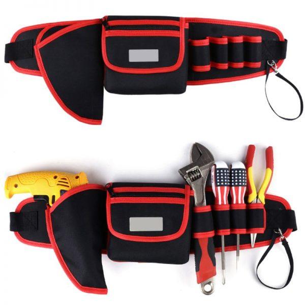 Electrician Drill Tool Bag Waist Pocket Pouch Belt Storage Holder Maintenance Kit