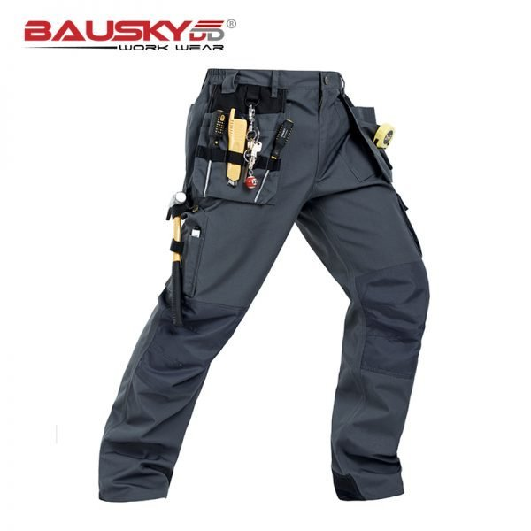 Working Clothes Construction Pants Craftsman's Work Pants For Men Construction Black Workwear Pants Cotton Twill Free Shipping
