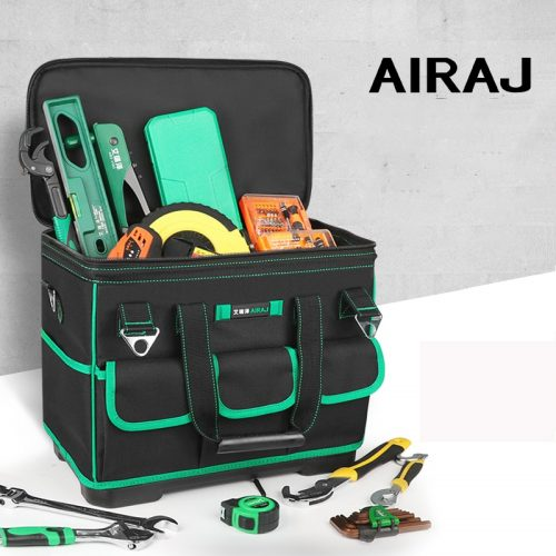 AIRAJ Heightening Large Capacity Tool Bag, Multi-function Electrician Bag, Anti-fall and Wear-resistant Woodworking Bag