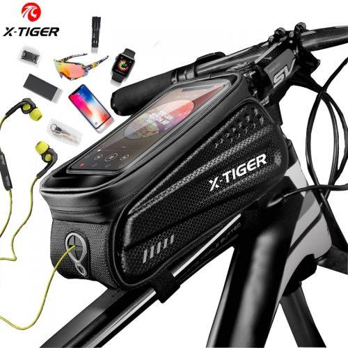 X-TIGER Rainproof Bicycle Bag Bike Frame Bag Touchscreen Phone Case Cycling Bags MTB Bike Bicycle Top Tube Handlebar Bicycle Bag