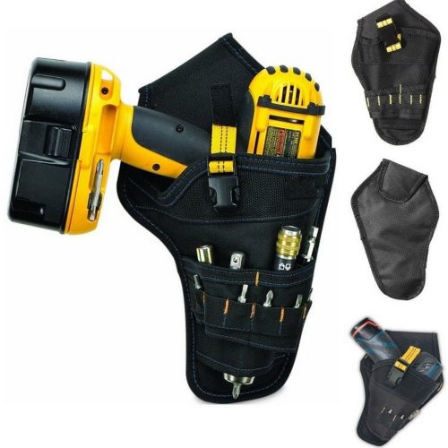 Oxford Cloth Drill Holster Waist Tool Bag Electric Waist Belt Tool Pouch Bag for Wrench Hammer Screwdriver Holder Kit Pockets